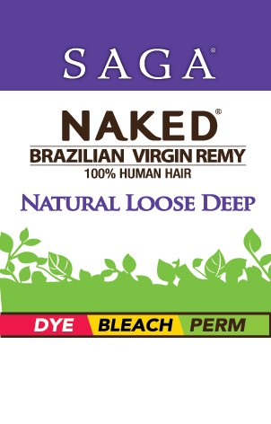 NAKED BRAZILIAN NATURAL LOOSE DEEP CLOSURE 14