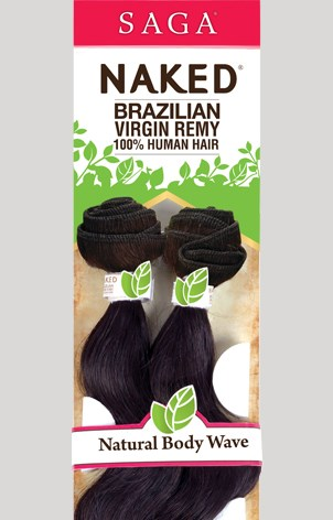 NAKED BRAZILIAN REMY NATURAL BODY WAVE LONG 7P