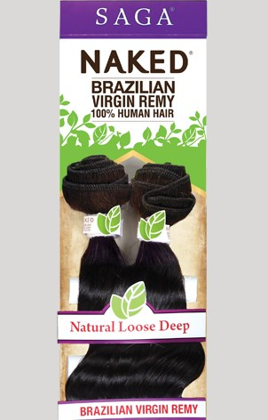 NAKED BRAZILIAN REMY NATURAL LOOSE DEEP LONG 7